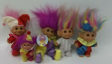 "Lot of Russ & Dam Trolls - Baby Clowns & Rainbow Hair 3"" to 6"""