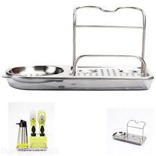 Kitchen Storage Stainless Steel Organizer Rack Soap Sponge Holder Sink Caddy Dry