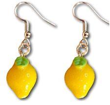 Super Cute Mini Lemon Charm Resin Fruit Dangle Drop Earrings by Pashal