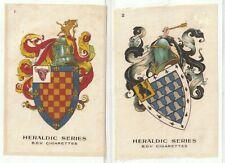 More details for  god.phillips 1924 silks set p12 heraldic series.shields helmets armorials(s119)
