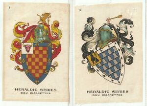 God.Phillips 1924 SILKS Set P12 Heraldic Series.Shields Helmets Armorials(S119)