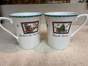 mikasa christmas wish cappacino mugs/2