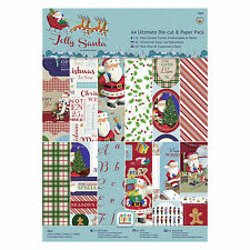 A4 ultimate papier & die cut pack-jolly santa-docrafts