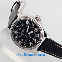 45mm Parnis Date Black Dial Power Reserve ST2530 Automatic Men's Watch 2610