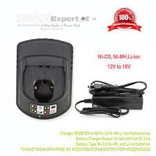 Universal charger RYOBI 12V to 18V  Ni-Cd N-Mh Li-Ion Pod Style batteries