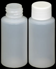 Plastic Bottle (HDPE) w/White Lid, 1-oz. 45-Pack, New