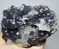 Natural Gem Level Fluorite & Calcite Crystal Mineral Specimen/China