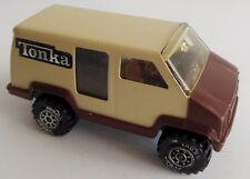 """Vintage 1978 TONKA Tan Brown Toy Delivery Van Made in USA 4"""" inches"""