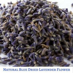 Super Blue 100 gram Dried Natural Lavender Flower - Vacuum Packed - Scented