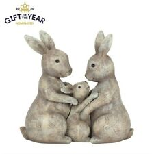 Cute Fluffle Family Bunny Loving Rabbit Parents & Child Figurine Set New & Boxed