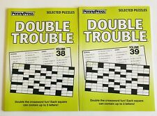 Lot of 2 DOUBLE TROUBLE Penny Press Selected Puzzles DELL Variety crosswords