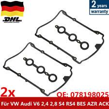 2x VENTILDECKEL-DICHTUNG ZYLINDERKOPFHAUBE Für AUDI A4 8D B5 2.4-S4 96-00 DHL