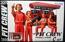 Pit crew set C pitwall stand ingénieurs, conputer, 1:20, Fujimi 13326