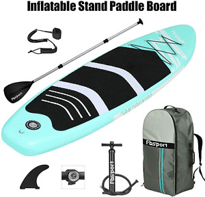 """Inflatable Stand Up Paddle Board 10' Long 30"""" Wide 6"""" Thick Durable SU Accessori"""