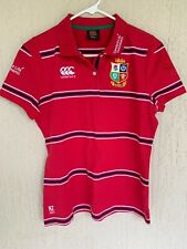 New listing NEW Canterbury Ladies Women's BRITISH & IRISH LIONS Red Rugby Polo Shirt Size 14