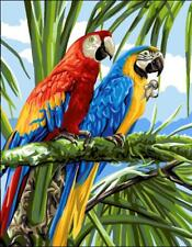 Royal Paris Tapestry Canvas – Colourful Macaws