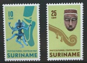 SURINAME 1967 Cultural Centre. Set of 2. Mint Never Hinged. SG615/616.