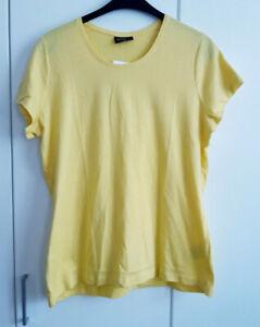 Damen T-Shirt Gr.48 in Gelb NEU