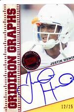 justin hunter rookie rc draft auto autograph tennessee vols college #/25 2013 13