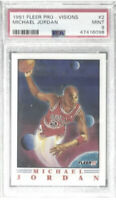 Michael Jordan 1991 Fleer Pro-Visions PSA MINT 9 Chicago Bulls NBA!!