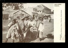 West Africa SIERRA LEONE FREETOWN Native Sellers street scene 1922 PPC Carew Bro