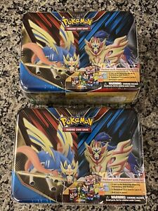 (2) Pokemon TCG 2020 Spring Collector's Chest LUNCH BOX Tin - SEALED! NEW!