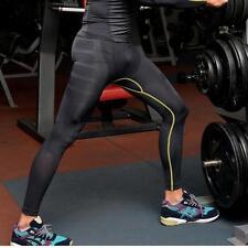 Mens Sports GYM Compression Running Long Pants Base Layer Shorts Tight Leggings