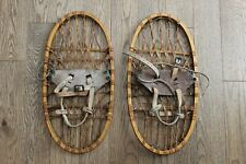 Vintage 1943 Lund Wwii Military Issue Bear Paw Snow Shoes 10.5 x 21