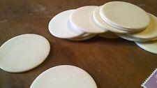 Pieza redonda de hueso para joyas de incrustaciones/33 X 1-1.5 mm de diámetro de Contador Vintage