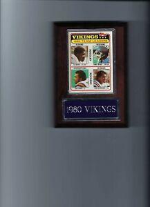 1980 MINNESOTA VIKINGS PLAQUE FOOTBALL NFL  TEAM LEADERS  C