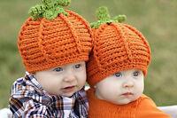 1pcs Baby Boy Girl Crochet Knit Halloween Pumpkin Beanie Hat Photograph Prop Cap