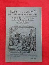 Bulletin officiel Fédération des Sports/ÉCOLE et ARMÉE/ 1924