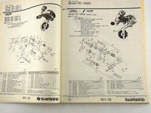 Shimano Catalog 1982-94 Catalogue 500 Pages XTR M900 Vintage Mountain Bike NOS