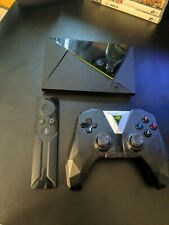 Nvidia Shield TV Pro (2017) with remote and game controller