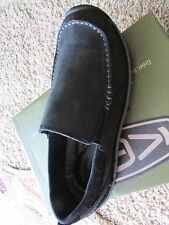 NEW KEEN DILLON II SLIP ON LEATHER LOAFER SHOES MENS 8 BLACK FREE SHIP