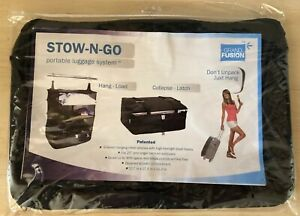 Stow N Go Portable Luggage System Hanging Shelves Collapsing Travel Organizer