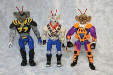 3x Biker Mice From Mars Figures Galoob 1993 1995