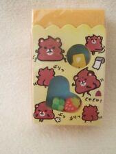 Kamio Japan mini erasers in eraser Bear NEW
