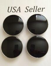 "4 pcs Universal Black Chrome  Wheel Center Caps 60mm/ 2 3/8"" Can Fit VW Saab"