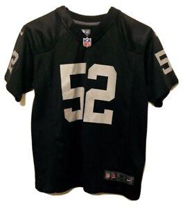 Nike On Field Oakland Raiders #52 Khalil Mack Jersey Size Youth Medium