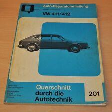 VW Nasenbär 411 412 E LE ab 1968 Motor Reparaturanleitung B201 Handbuch Bucheli