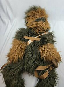 Star Wars Chewbacca Backpack Plush Wearable Chewy Furry  Bag