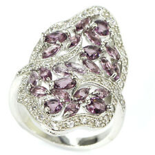 Hi End Bold Amethyst S/ Silver 925 Ring AAA CZ  Size 7 Weimaraner Rescue Charity