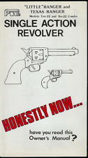 FIE Little/Texas Ranger 22 Cal Revolver Pistol Original Factory Owner's Manual