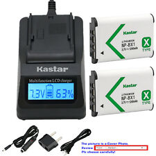 Kastar Battery Fast Charger for Sony NP-BX1 BC-CSX & Sony Cyber-shot DSC-HX80