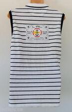 Ralph LAUREN ACTIVE STRIPE NAUTICAL SLEEVELESS COTTON POLO dress Shirt Top~Sz XL