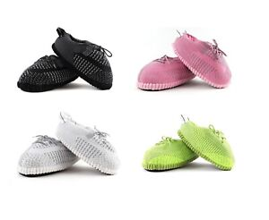 Mens Ladies Unisex Reflective Boost Yeeezy Plush Novelty Warm Slippers