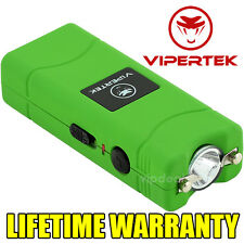 VIPERTEK VTS-881 15 BV Rechargeable Micro Mini Stun Gun LED Flashlight - Green