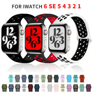For Apple Watch Series 6 5 3 4 2 SE 38/40/42/44mm Soft SILICONE Sport Strap Band
