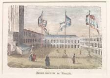 1850 GALLERIA VENEZIA VENICE ACQUARELLATA PASSEPARTOUT